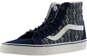Vans Sk8-Hi Reissue Indigo Mood / Blanc De Ankle-High Fabric Fashion Sneaker - 8.5M 7M