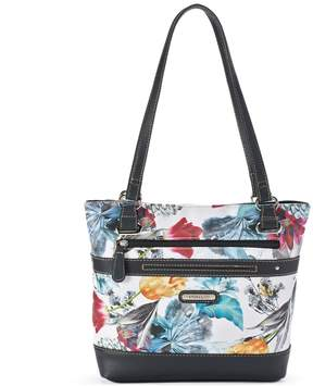 Co Stone & Floral Print Leather Tote