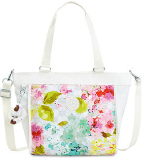 Kipling New Shopper Small Tote - LUSCIOUS FLORALS W COMBO/SILVER - STYLE