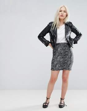 B.young Zebra Mini Skirt