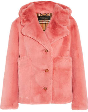 Burberry Faux Fur Jacket - Blush