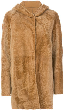 Drome hooded shearling jacket