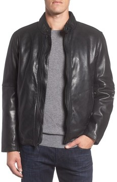 Andrew Marc Men's Calfskin Leather Moto Jacket