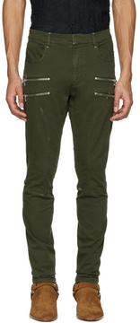 Faith Connexion Green Zipper Trousers