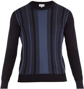 Brioni Crew-neck striped cotton and silk-blend sweater
