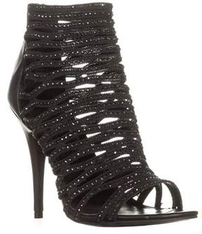 Zigi Soho Deeny Caged Ankle Booties, Black.