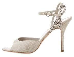 Louis Vuitton Embellished Karung Sandals