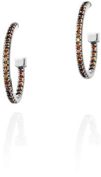 Azza Fahmy Garnet Hoop Earrings