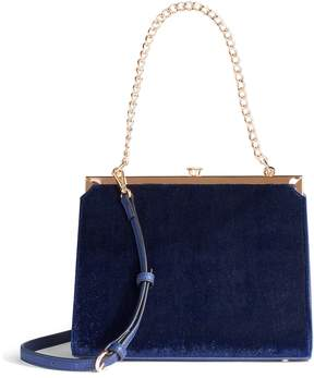 Lauren Conrad Runway Collection Dame Velvet Shoulder Bag