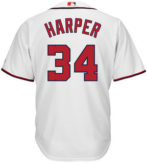 Majestic Men's Bryce Harper Washington Nationals Player Replica Cb Jersey
