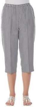 Allison Daley Petites Pull-On Gingham Print Capri Pants