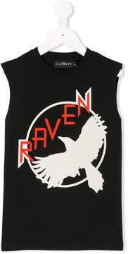 John Richmond Kids raven print tank top