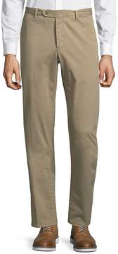 Luciano Barbera Men's Flat Front Trousers