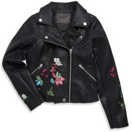 Blank NYC Girl's Flower Motor Jacket