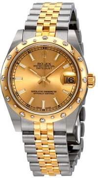 Rolex Datejust Lady 31 Champagne Dial Stainless Steel and 18K Yellow Gold Jubilee Bracelet Automatic Watch