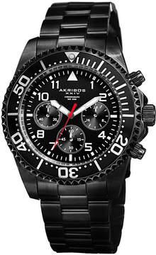 Akribos XXIV Mens Black Strap Watch-A-950bk