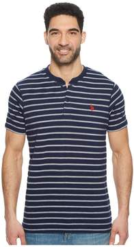 U.S. Polo Assn. Short Sleeve Henley Striped T-Shirt Men's T Shirt