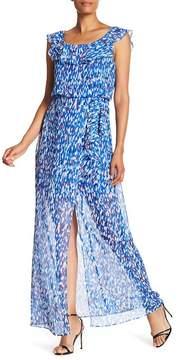 Nine West Wrap Ruffle Dress