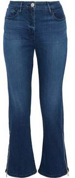 3x1 Midway Zip-Detailed High-Rise Kick-Flare Jeans