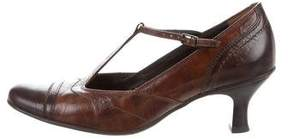 Paul Green Leather T-Strap Pumps