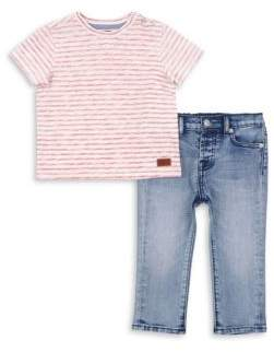 7 For All Mankind Baby's, Toddler's and Boy's Crewneck Tee & Jeans Set