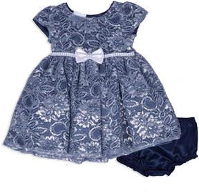 Nanette Baby Short Sleeve Sparkle Dress - Baby Girls