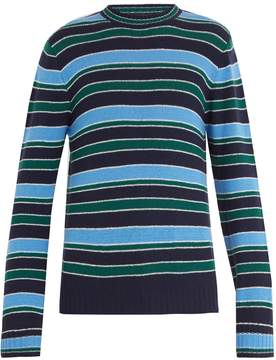Prada Striped wool and cashmere-blend sweater