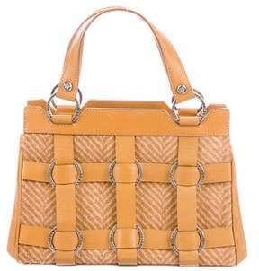 Versace Leather & Ponyhair Handle Bag