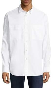 HUGO Eckart Oversized-Fit Cotton Button-Down Shirt