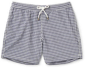 Hartford Slim-Fit Gingham Mid-Length Swim Shorts