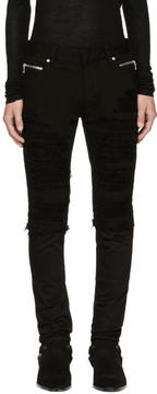 Balmain Black Vintage Destroy Jeans