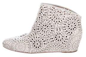 Alaia Suede Laser Cut Booties