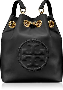 Tory Burch Key Item Black Leather Mini Backpack - ONE COLOR - STYLE