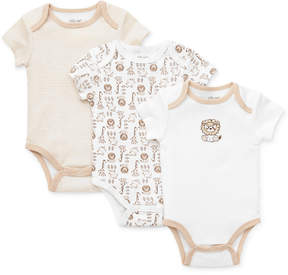 Little Me Baby Boys' Safari 3-Pack Bodysuits