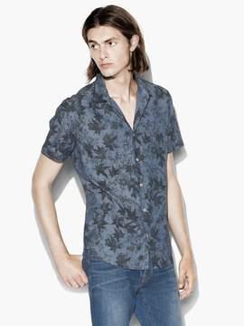 John Varvatos Leaf Print Shirt
