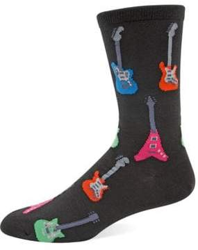 Hot Sox Guitar Knit Socks
