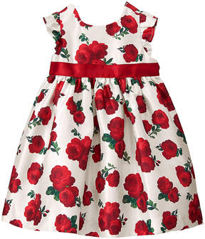 Gymboree White & Red Rose Sleeveless Dress - Infant