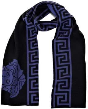Versace Basic Medusa W Maze Scarves Black-Lavender