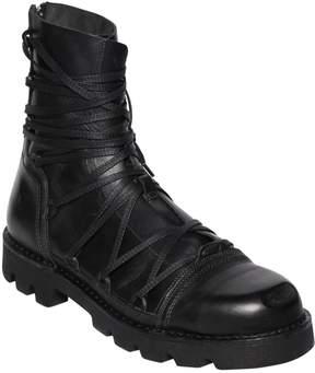 Diesel Lace-Up Leather Combat Boots