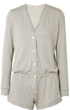 Eberjey Sadie Striped Stretch-modal Jersey Playsuit - Gray