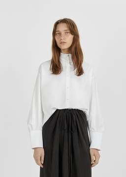 Atlantique Ascoli Poplin Dolman Shirt White Poplin & Pique Size: 0