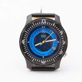 Blade + Blue Vintage Swiss Army Diver&|39;s Watch with Blue Dial