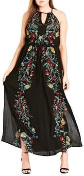 City Chic Secret Vine Maxi Dress