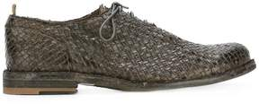 Officine Creative woven oxford shoes