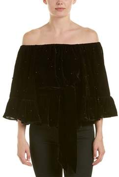 C/Meo Collective Allure Pearl Off-the-shoulder Top.