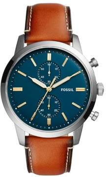 Fossil Men's FS5279 Silver Stainless Steel Chronograph Analog Watch