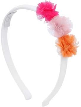 Il Gufo Cotton Jersey Headband W/ Pompom Details