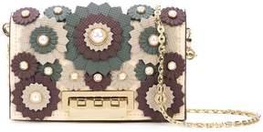 Zac Posen Earthette appliqué chain card case