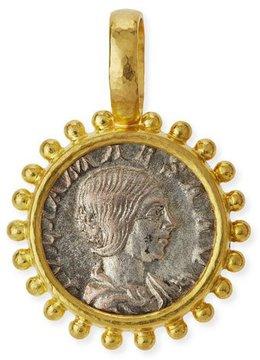 Elizabeth Locke 19K Roman Coin Pendant