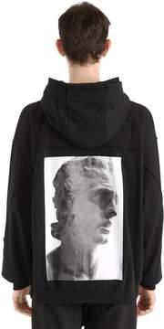 Damir Doma Hooded Zip-Up Cotton Jersey Sweatshirt